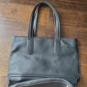 Black Work Bag/ Purse with wristlet